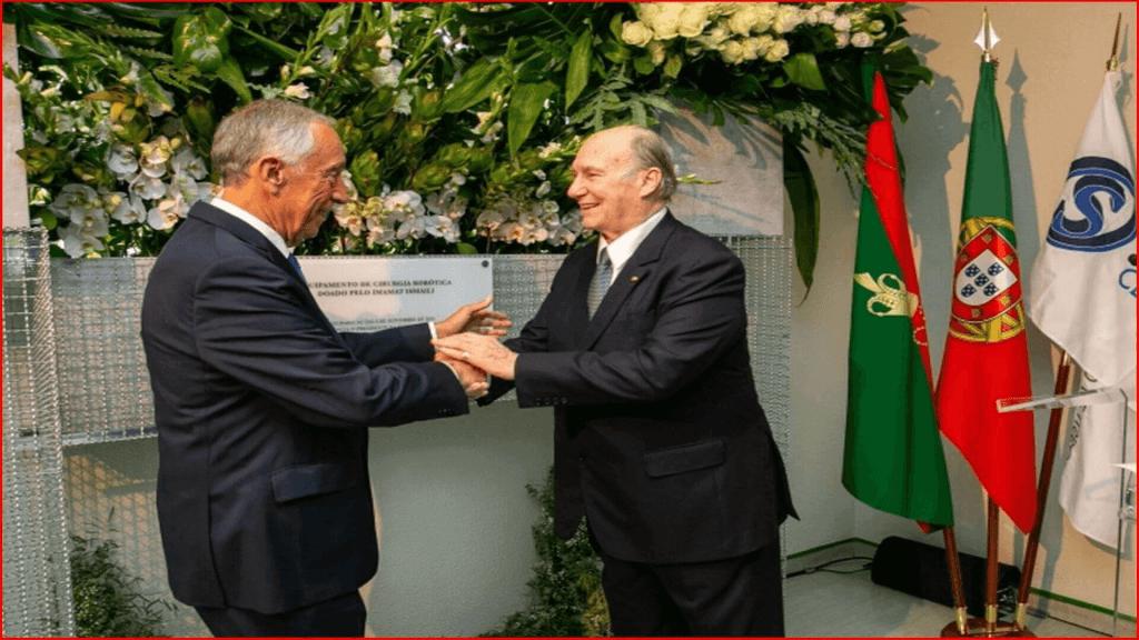 His Excellency Marcelo Rebelo de Sousa conveys his gratitude to His Highness the Aga Khan